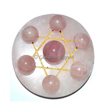 Rose Quartz with Rose Quartz Big Sphere Set