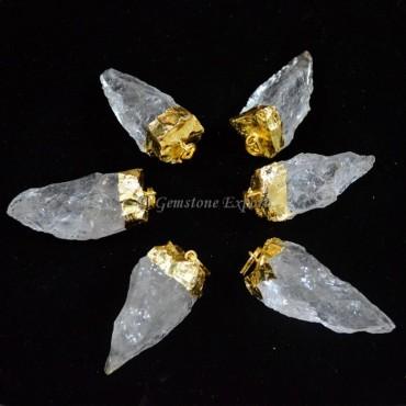 Crystal Quartz Pendulum Electroplated Pendants