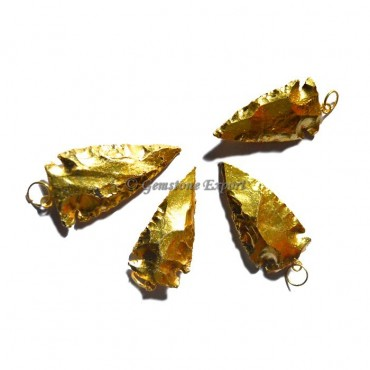 Fully Gold Plated Arrowheads Pendants