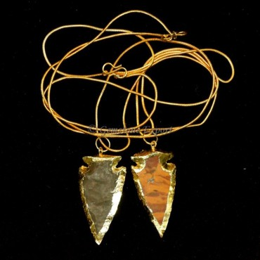 Electroplated Arrowheads Necklace