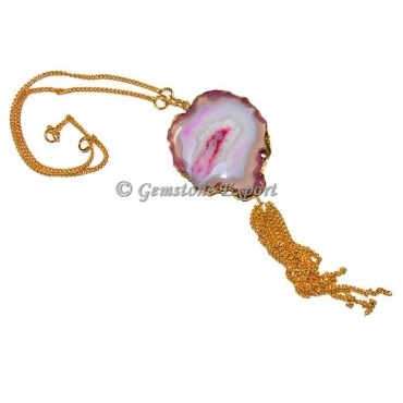 Pink Agate Fashion Necklace
