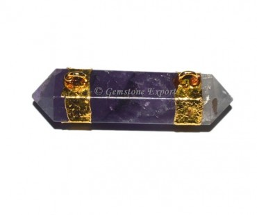 Amethyst Pencil Point Electroplated Pendant