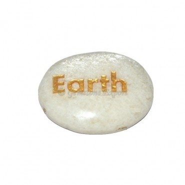 Moon Stone Earth Engraved Stone