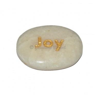 Moon Stone Joy Engraved Stone