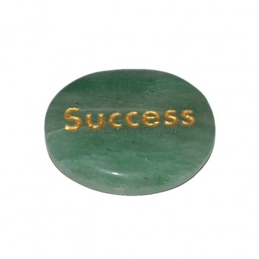 Green Aventurine Success Engraved Stone