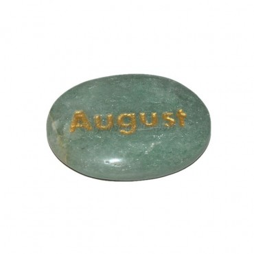 Green Aventurine August Engraved Stone