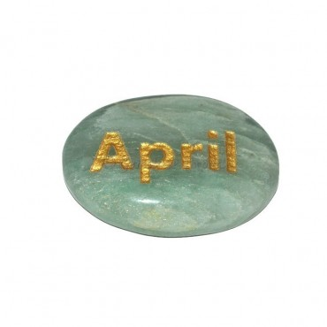 Green Aventurine April Engraved Stone