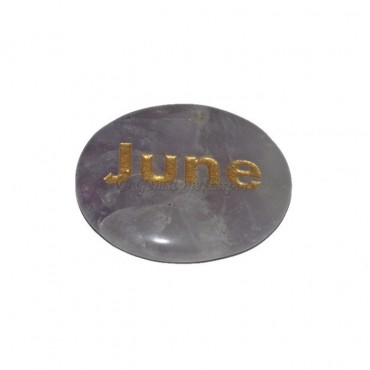 Amethyst June Engraved Stone