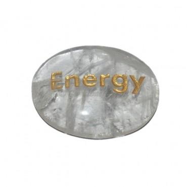 Crystal Quartz  Energy Engraved Stone