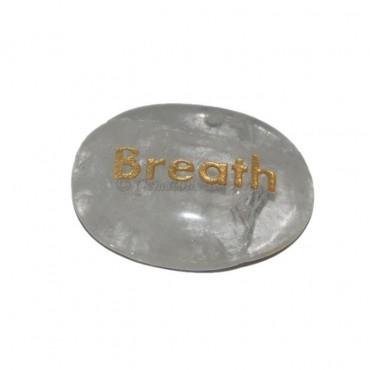 Crystal Quartz  Breath Engraved Stone