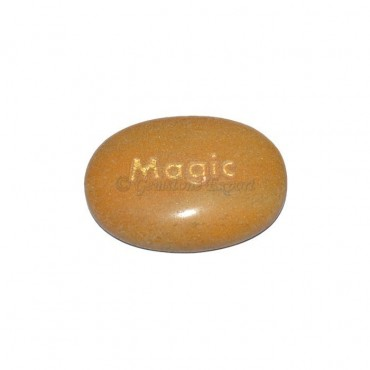 Yellow Jasper Magic Engraved Stone