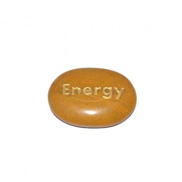 Yellow Jasper Energy Engraved Stone