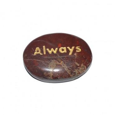 Red Jasper Always Engraved Stone