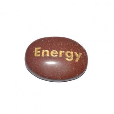 Red Jasper Energy Engraved Stone