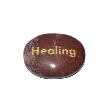 Red Jasper Healing Engraved Stone