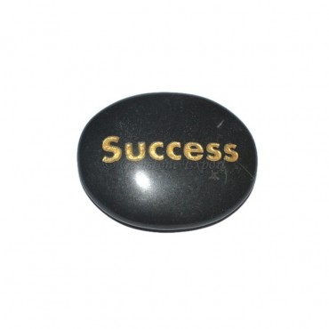Black Agate success  Engraved Stone