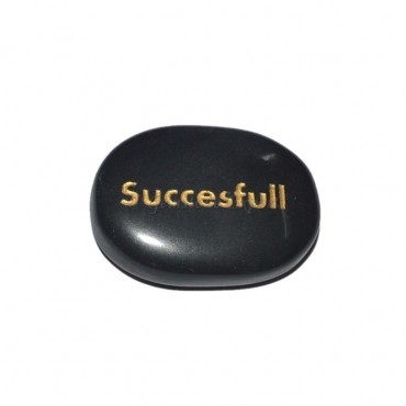 Black Agate Successful Engraved Stone