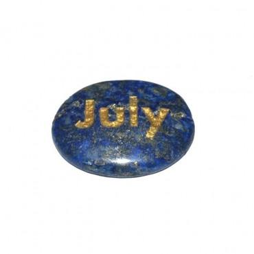 Lapis Lazuli July Engraved Stone