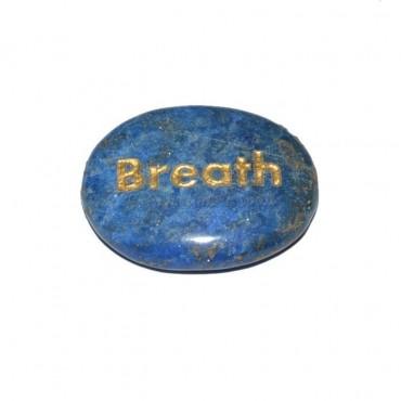 Lapis Lazuli Breath Engraved Stone