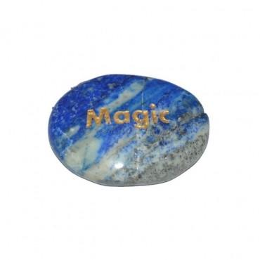 Lapis Lazuli Magic Engraved Stone