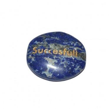 Lapis Lazuli Successful Engraved Stone