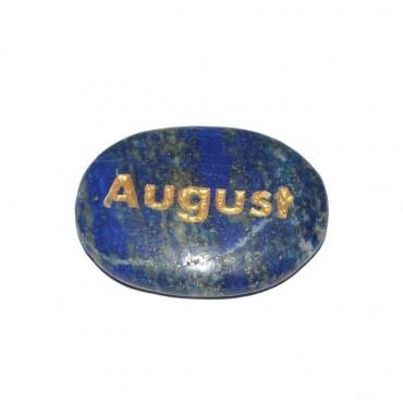 Lapis Lazuli August Engraved Stone