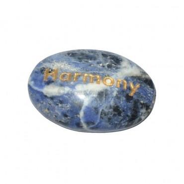 Sodalite Harmony Engraved Stone