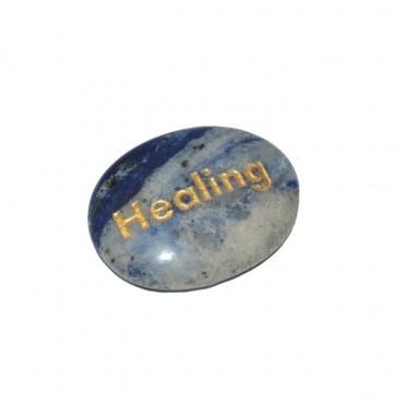 Sodalite Healing Engraved Stone