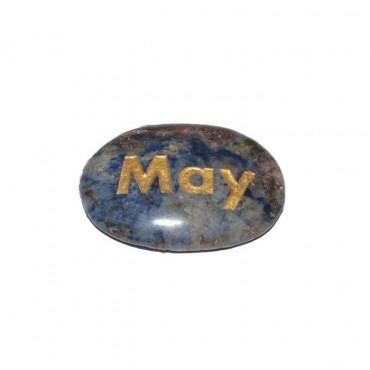 Sodalite may Engraved Stone