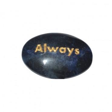 Sodalite Always Engraved Stone