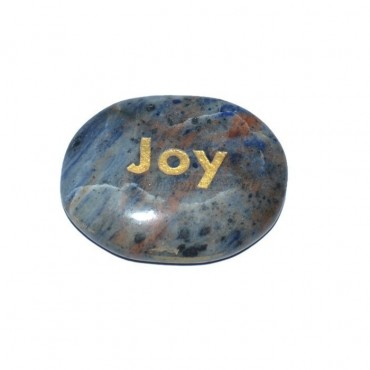 Sodalite Joy Engraved Stone