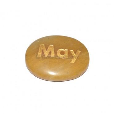Yellow Jasper may Engraved Stone