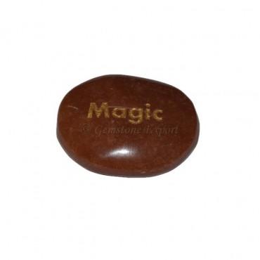 Peach Aventurine Magic Engraved Stone