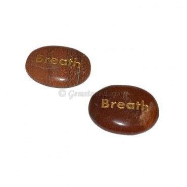 Peach Aventurine Breath Engraved Stone