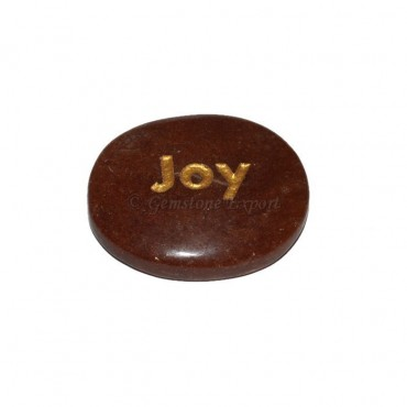 Peach Aventurine Joy Engraved Stone