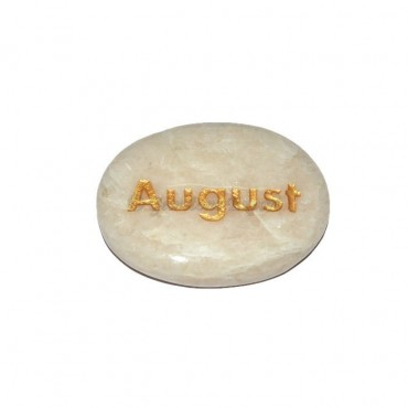 Moon Stone August  Engraved Stone