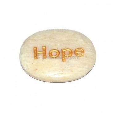 Moon Stone Hope  Engraved Stone