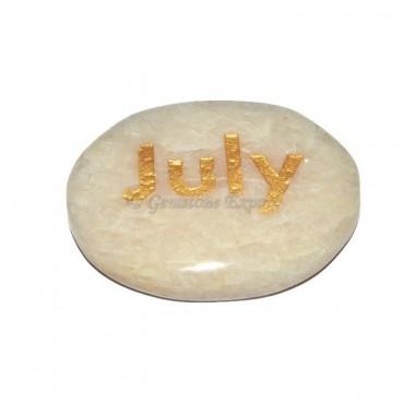 Moon Stone July  Engraved Stone
