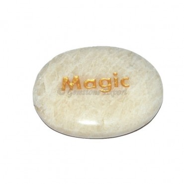 Moon Stone Magic  Engraved Stone