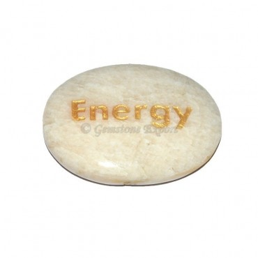 Moon Stone Energy Engraved Stone