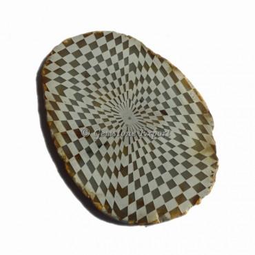 Engraved 3D Design On Agate Slice