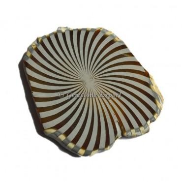 Engraved Wave Agate Slice
