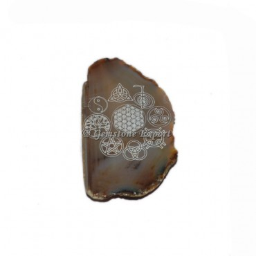 Assorted Symbol On Agate Slice