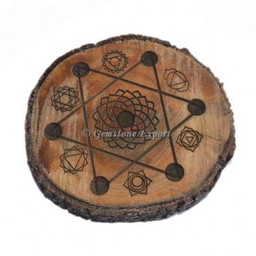 Chakra Wooden Vastu Plate