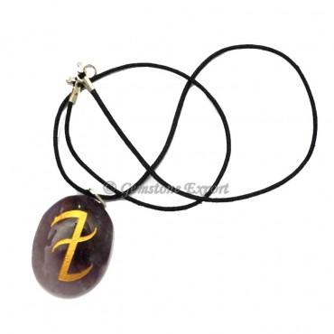 Amethyst Runes Symbol Pendants