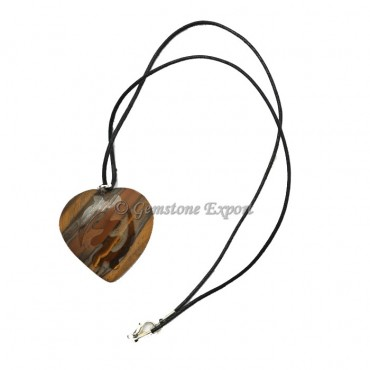 Tiger Eye Hearts Pendants