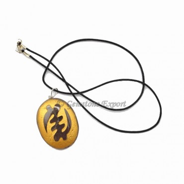 Amethyst Gold Engraved Pendants