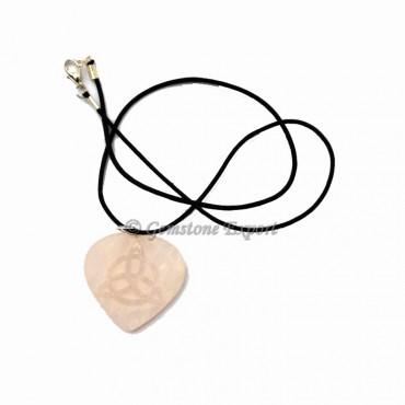 Rose Quartz Heart Polished Pendant