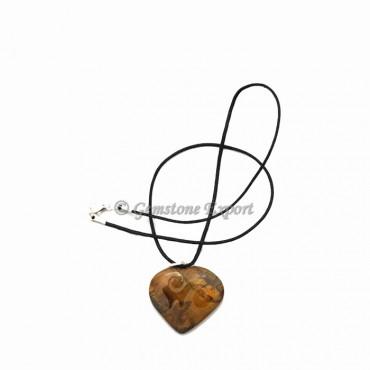 Tiger Stone Heart Pendants