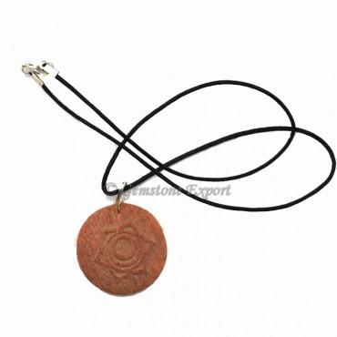 Peach Aventurine Chakra Symbol Pendants